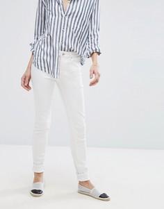 Белые облегающие джинсы с завышенной талией Vero Moda - Белый