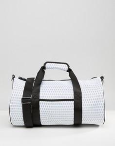 Дорожная сумка с сетчатой отделкой Reebok - Белый