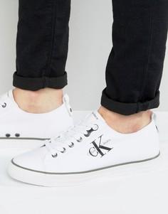 Парусиновые кеды с логотипом Calvin Klein Arnold - Белый