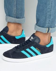 Темно-синие кроссовки adidas Originals Gazelle BB5256 - Темно-синий