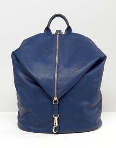 Рюкзак с молнией на клапане Liquorish - Темно-синий