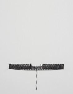 Черный сетчатый чокер ASOS - Черный