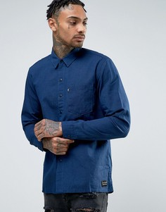 Синяя рубашка с карманом Levis Line 8 - Синий