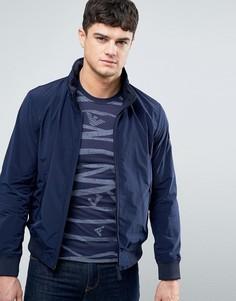 Темно-синяя нейлоновая куртка-пилот Armani Jeans - Темно-синий