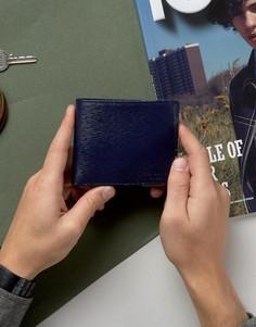 Кожаный бумажник с отделкой на уголке Ted Baker - Темно-синий