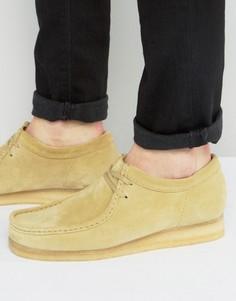 Замшевые ботинки Clarks Orginal Wallabee - Бежевый