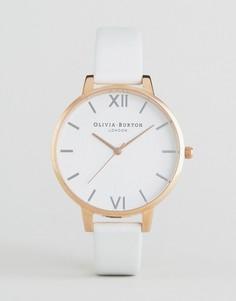 bf0a1117da6c Часы с большим белым циферблатом и кожаным ремешком Oliva Burton - Золотой