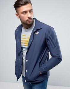 Темно-синяя спортивная куртка New Balance MJ71529_NV - Темно-синий