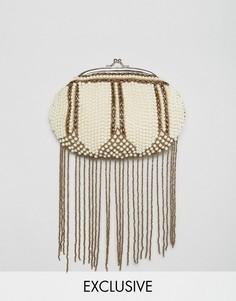 Клатч с кисточками из бисера Amelia Rose - Мульти