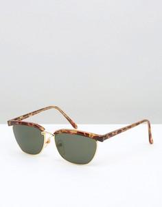 Солнцезащитные очки в черепаховой оправе в стиле ретро Reclaimed Vintage - Коричневый
