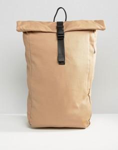 Бежевый парусиновый рюкзак ролл-топ Farah - Бежевый