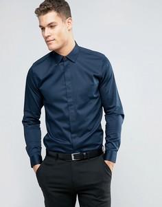 Рубашка со скрытой планкой Ted Baker - Темно-синий