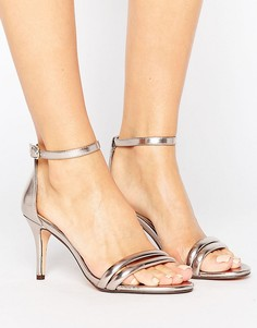 Сандалии на каблуке цвета розового золота Head Over Heels By Dune Mimosa - Золотой