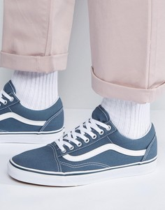 Синие кеды Vans Old Skool VA38G1MJ7 - Серый