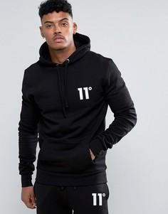 Худи с логотипом 11 Degrees - Черный