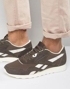 Коричневые нейлоновые кроссовки Reebok Classic BD2692 - Коричневый