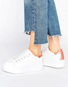 Кроссовки на массивной платформе со шнуровкой ASOS DUSKY - Белый