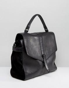 Кожаная сумка с откидным клапаном Urbancode - Черный