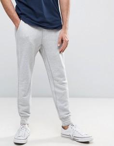 Серые узкие меланжевые джоггеры с манжетами Hollister - Серый
