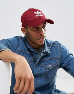 Красная кепка с логотипом adidas Originals CD8804 - Красный