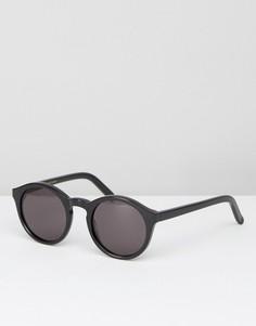 Солнцезащитные очки в круглой черной оправе Monokel Barstow - Черный