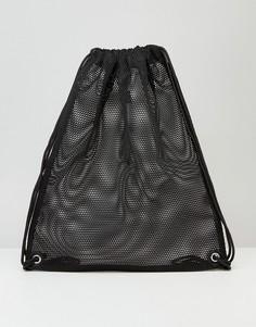 Сетчатый рюкзак со шнурком ASOS - Черный