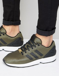 Золотистые кроссовки adidas Originals ZX Flux - Золотой