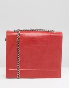 Красная кожаная сумка с ремешком-цепочкой Urbancode - Красный