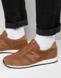 Коричневые кроссовки для бега в стиле 70-х New Balance 420 U420PTB - Коричневый