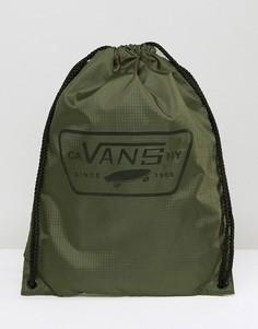Рюкзак на шнурке цвета хаки Vans League V002W6KEK - Зеленый