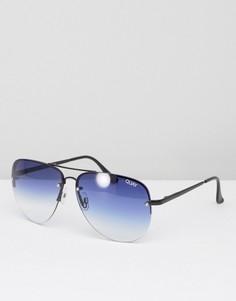 Солнцезащитные очки-авиаторы с эффектом деграде Quay Australia Muse - Синий