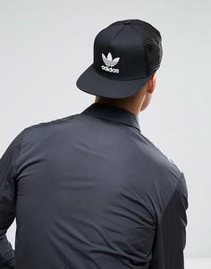 Черная бейсболка с логотипом-трилистником adidas Originals BK7308 - Черный