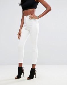 Укороченные супероблегающие джинсы с завышенной талией Missguided Vice - Белый