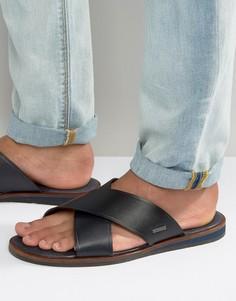Кожаные сандалии с перекрестными ремешками Ted Baker Punxel - Черный