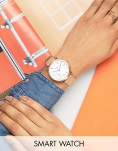 Смарт-часы с песочным кожаным ремешком Fossil Q FTW1129 Tailor - Кремовый