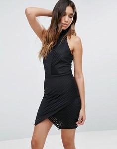 Платье-халтер с запахом Girls On Film - Черный