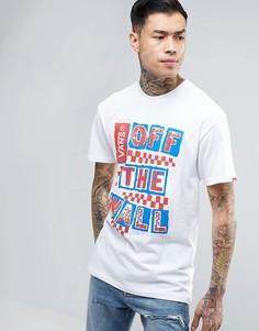 Белая футболка Vans Checker Blast VRI9WHT - Белый