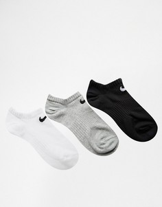 3 пары легких носков Nike No Show - Мульти
