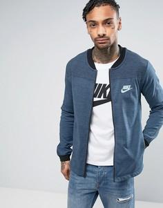 Синий трикотажный бомбер Nike Advanced Knit 15 837008-464 - Синий