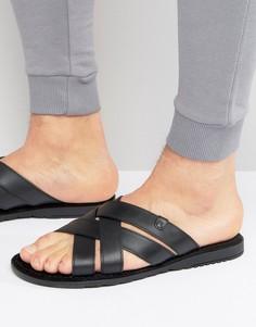 Кожаные сандалии Base London - Черный