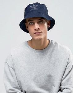 Синяя шляпа из искусственной замши adidas Originals BK7009 - Синий
