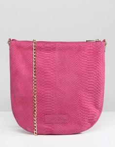 Кожаная сумка через плечо Urbancode - Розовый