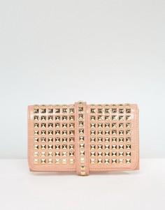 Клатч с заклепками Missguided - Розовый