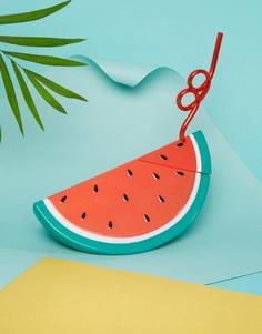 Фляжка для напитков в виде дольки арбуза с соломинкой Sunnylife - Мульти