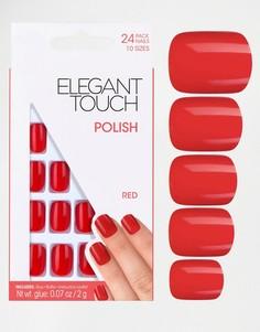 Квадратные накладные ногти Elegant Touch - Черный