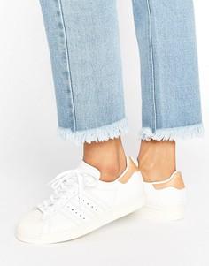 Серые кроссовки в стиле 80-х со светло-коричневой отделкой adidas Originals - Белый