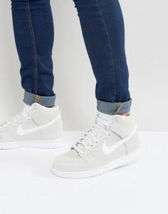 Серые высокие кроссовки Nike Dunk 904233-100 - Серый