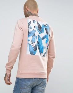 Свитер с принтом на спине Friend or Faux Reefs - Розовый