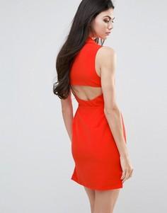 Цельнокройное платье с вырезом сзади Lavish Alice - Оранжевый