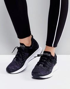 Черные низкие кроссовки Puma Ignite 3 Evoknit - Черный